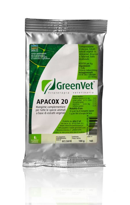 ornishop greenvet apacox 20 busta 100 gr